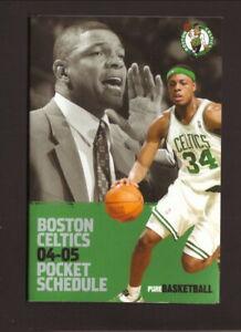 Boston Celtics--Paul Pierce--Doc Riveers--2001-02 Pocket Schedule--Citizens Bank