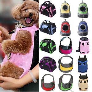 NEW Pet Dog Backpack Puppy Carrier Mesh Travel Front Sling Shoulder Bag Portable