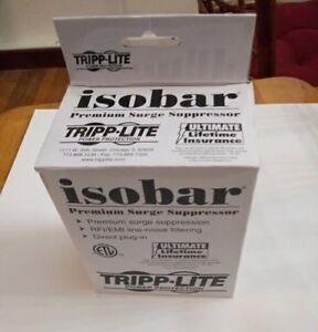 Tripp Lite Isobar ULTRABLOK Premium 2-Outlet Surge Suppressor Power Protector