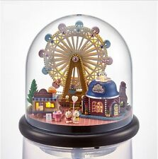 Doll houses DIY Wood Model Kits Glass Ball LED park Ferris wheel Gift Handcrafts