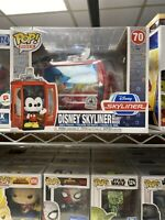 NIB Exclusive Funko Pop! Rides: Disney Skyliner and Mickey Mouse Vinyl Figure #7