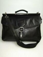 Vintage Coach Men's 2-Way Business Bag Trans Atlantic Black Leather Beekman $575