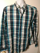 Mens Dress Shirt Size Large Button Down Basic Edition  New