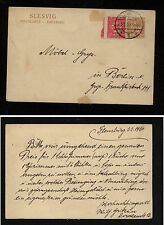 Schlesweg #4 on uprarted postal card to Berlin 1920 Kl0115