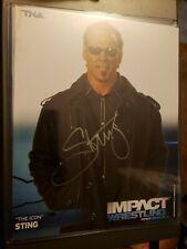 Sting The Icon Autographed TNA Impact Wrestling Promotion Photo Nopaint 2011 HOF