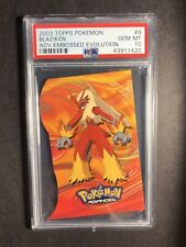 Pokemon PSA 10 Topps Pokemon Advanced Blaziken Embossed Evolution Gem Mint 2003