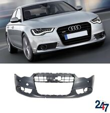 NEW AUDI A6 C7 2011 - 2014 FRONT BUMPER WITH HEADLIGHT WASHER AND PDC HOLES