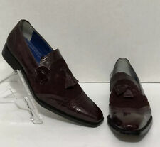 Mens Giorgio Brutini 210797 Burgundy Quilted Suede & Leather Loafer US 11 NWT