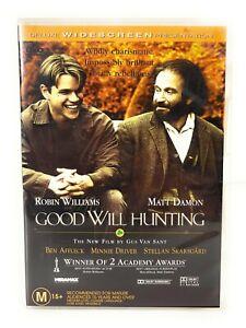 Good Will Hunting (DVD, 1997) Matt Damon Robin Williams Region 4 Free Postage