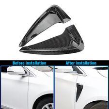 Carbon Fiber Side Body Marker Air Flow Fender Wing Vent Trim Cover for BMW Audi