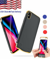Bank Backup Power Battery Case Cover 5500mAh Charger For iPhone X XR 8 7 6s Plus