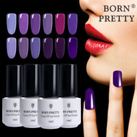 1 Bottle 5ml Born Pretty Purple Series Nail Art Soak Off UV Gel Polish Varnish