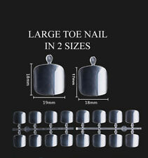 16 BIG LARGE FALSE TOES NAILS IDEAL REPLACEMENT LOST TOE NAIL 2 SIZES 18mm 19mm