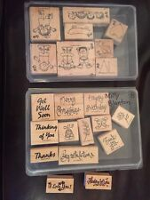 Stampin' Up Kids At Play Set of 8 Stamps &13 More Happy Birthday Merry Christmas