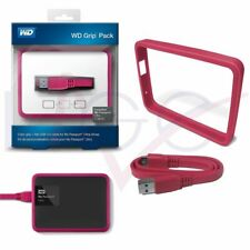 Genuine WD Grip Pack Case For 1 TB My Passport Ultra Flat USB Cable Fuchsia NEW