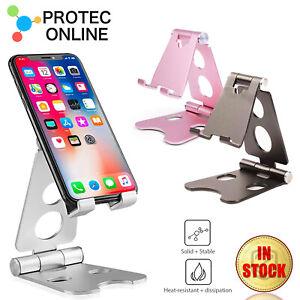 Universal Metal Desk Tabletop Phone Tablet Stand Holder Foldable Adjustable