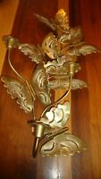 Vtg HOMCO Metal 3-D Butterflies 3-Candle Holder Wall Art Decor Home Interior 409