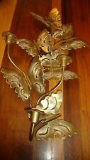 Vtg HOMCO Metal 3-D Butterflies 3-Candle Holder Wall Art Decor Home Interior 409