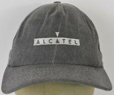 Alcatel French Mobile Smartphones Grey Adjustable Leather Strap Baseball Hat Cap