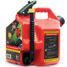 Surecan 2 Gallon Controlled Flow Gasoline Fuel Can With Rotating Nozzle Red