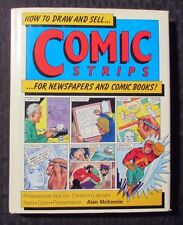 1994 How To Draw And Sell COMIC STRIPS by Alan McKenzie HC/DJ VF/FN+
