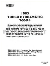 1983 Chevy GMC Pickup Auto Transmission 700-R4 Shop Manual Chevrolet Truck
