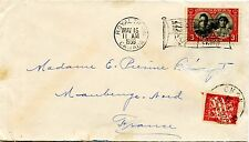 RARE Royal Train POSTAGE DUE to FRANCE dues tied receiver 1939 cover Canada