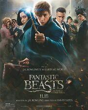 Fogler/Sudol/Waterston/Ejogo/Director Fantastic Beasts Signed 10x8 Photo AFTAL