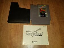 Nes Nintendo entertainment system Life Force Salamander (MANUAL AND SLEEVE)