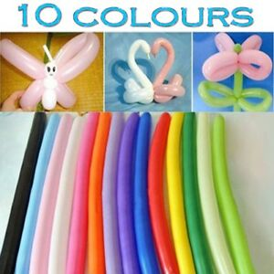 New LONG MAGIC Balloons Different Colours Latex 260Q Traditional Modelling X 100
