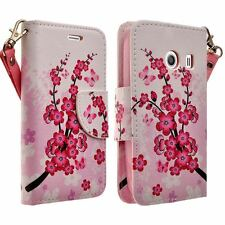 For Samsung Galaxy Ace Style Stardust Leather Flip Wallet Case Cherry Blossom