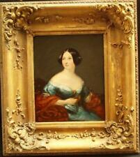 c1840 ENGLISH SCHOOL PORTRAIT OF A YOUNG LADY  Antique Oil Painting