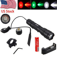 Tactical 8000LM XML T6 LED Flashlight Torch Lamp+ Mount+ Pressure Switch For Gun