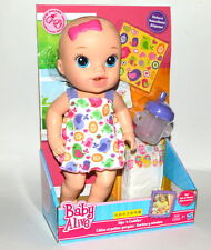 Baby Alive Sips 'n Cuddles Blonde Doll Birdy Dress Feed/change Diaper Hasbro
