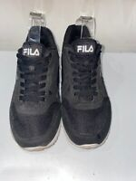 Fila mens black cress 2 classic everyday trainers size 7