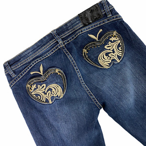 Apple Bottoms Jeans 9/10 Mid-Rise apple Pockets Skinny Shaping Butt Enhancing