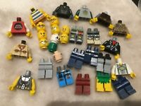 lego minifigure bundle 10 figures  mix & match heads legs bodies