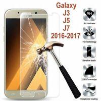 Galaxy J3/J5/J7 2016/17/2018 vitre protection verre trempé film d'écran Samsung