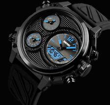 XXL SKM analógico digital pulsera caballero reloj negro azul chronograph 5 tiempos