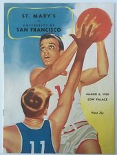 1955-56 USF College vs St Mary's  College Basketball Program