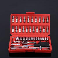 Car Repair Tool 46pcs/box Socket Set Ratchet Torque Wrench Combo Tools
