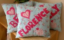 Girls Handmade Personalised Cushion Christening Present Birthday Baby Gift