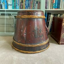 More details for antique chinese box stool 1907 lacquered guangzu reign foot 1900s