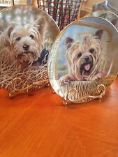 Lot of 3 Danbury Mint Yorkshire Terriers Limited edition Plates w/ Stands Doyle