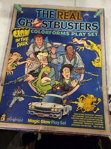 Vintage 1986 The Real Ghostbusters Colorforms Play Set Glow In the Dark