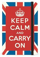 Cavallini Mini Notebook KEEP CALM AND CARRY ON 4x6 WITH 256 lined pages NBUJK/SM