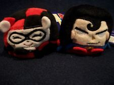"2 Kawaii Cubes Plush Toys 2.5""  * Harley Quinn * Superman NEW!"