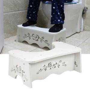 Toilettenhocker Badezimmer für Squatty Potty Erwachsene Kinder-WC Hocker Weiß