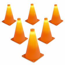 GoSports LED Light Up Sports Training Cones (6 Pack + Extra Set of Batteries)