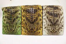 Unique Genuine Crocodile/Alligator Skin Leather Men's Bifold Wallets